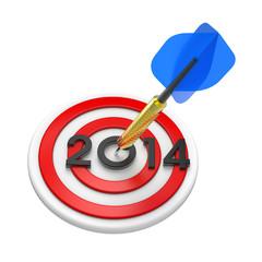 Dart hitting target - New Year 2014