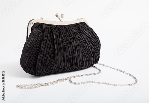 Black shoulder clutch back
