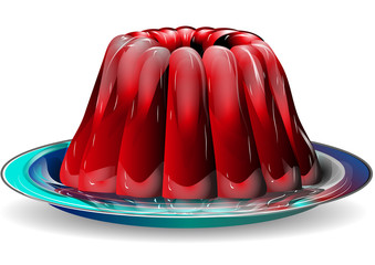 jelly on plate