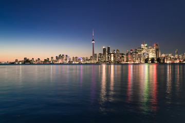 Night scene of downtown Toronto