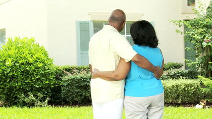 Older African American Married Couple Buying Real Estate