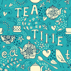 Seamless pattern - Tea Time
