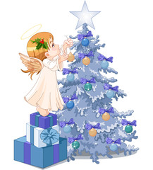Christmas cute angel