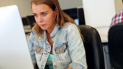 Student learning in computer class