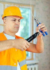 electrician installing electricity