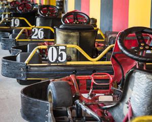 row of go-carts