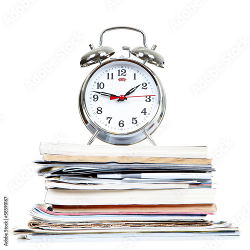 Alarm-clock and documents