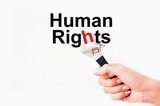 Fight for human rights issue poster