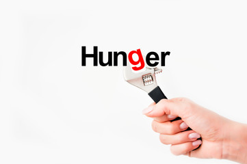 Fix hunger issue concept