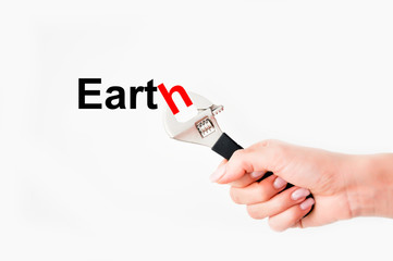 Solving earth issues concept