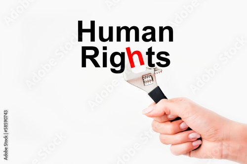 Fight for human rights issue
