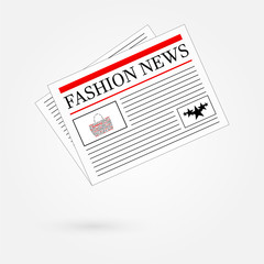 Fashion News Newspaper Headline Front Page