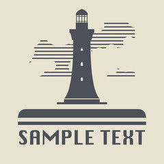 Lighthouse icon or sign, vector illustration