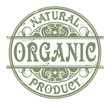 Grunge rubber stamp with the words Organic, Natural Product