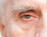 Close up of old man eye