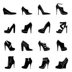 Sixteen models of stylish women footwear