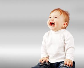 Portrait of happy smiling baby