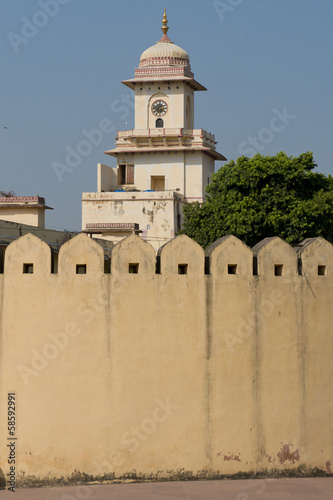 City Palace from the walls of Jantar Mantar in Jaipur