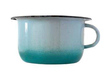 old enamel pot