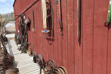 roue de charriots à Oatman, Route 66