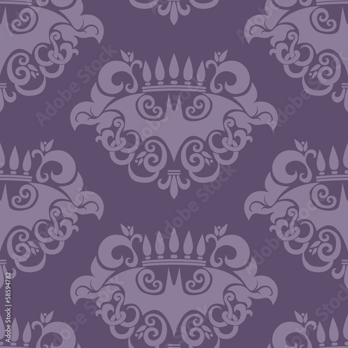 Seamless Retro Background with Bat Pattern