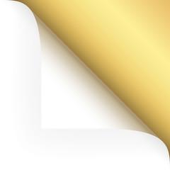 Papier - Ecke oben gold
