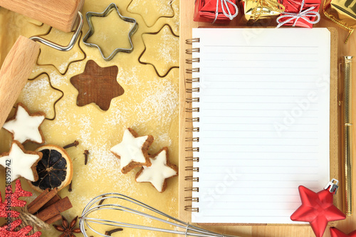 Making star cookies, recipe for Christmas