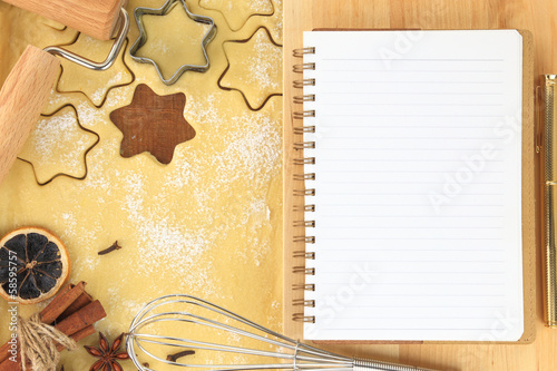 Making star cookies recipe