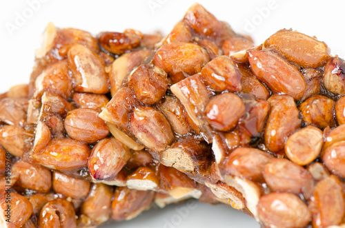 Peanut brittle, isolated
