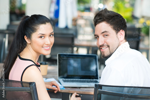 Networking at a cafe