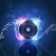Music Speaker Blue Background