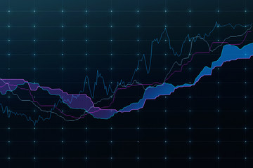 Stock market graph(blue)