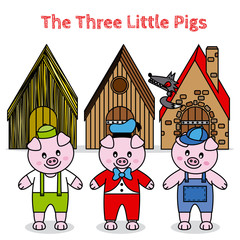 the three little pigs and the big bad wolf. children story