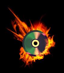 Burning CD.