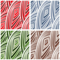 Abstract Mesh Pattern - four color versions