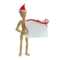 Dummy with christmas card