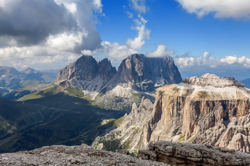 Mountain peaks in the Dolomites - Italy