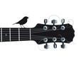 Gitarre mit singenden Vogel