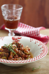 Goulash with olives