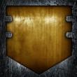 old metal badge