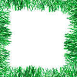Green tinsel frame