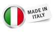 "Button mit Fahne "" MADE IN ITALY """