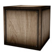 wooden case (isolated with clipping path)