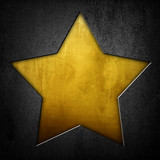metal plate with golden star