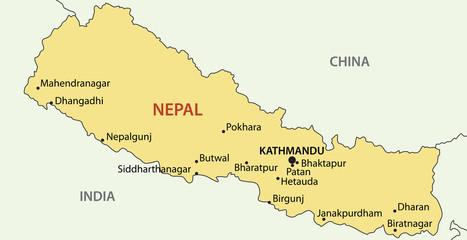 Democratic Republic of Nepal - vector map