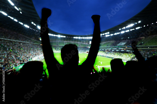 Papiers peints Magasin de sport Football, soccer fans support their team and celebrate