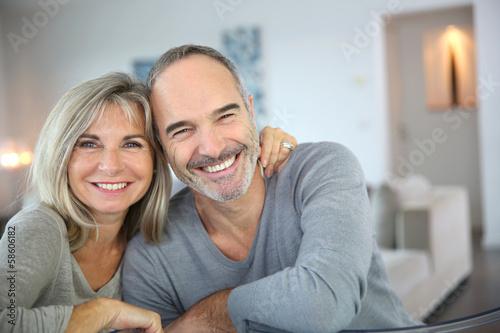 Leinwanddruck Bild Cheerful senior couple enjoying life