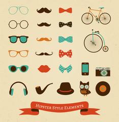 Hipster Retro Vintage Icon Set