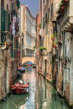 Fototapety Venice, Italy. A romantic narrow canal and bridge