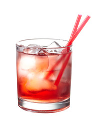 Red alcoholic cocktail